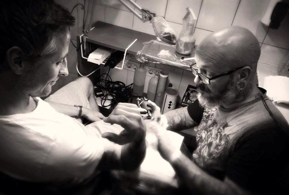 Fotografering hos tatovør Horsens