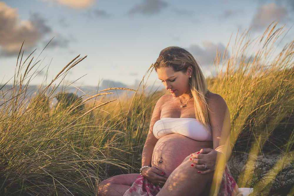 Den optimale tid til fotografering er mellem 7 og 8 måned i graviditet